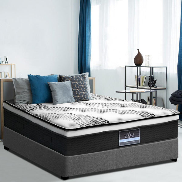 GISELLE EURO SUPPORT COMFORT PLUSH TOP MATTRESS - QUEEN - Evopia