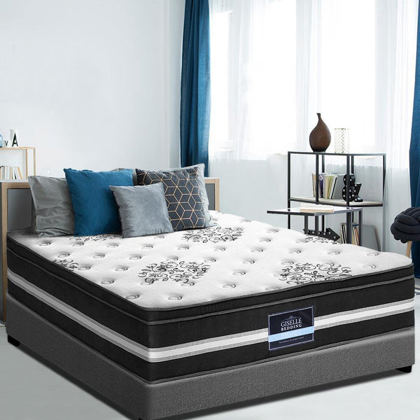 a queen mattress in cool gel memory foam