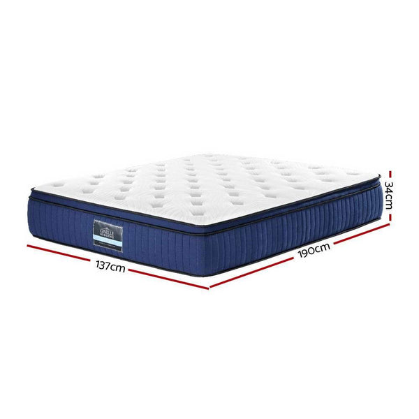 dimensions of a 34cm deep cool gel double mattress