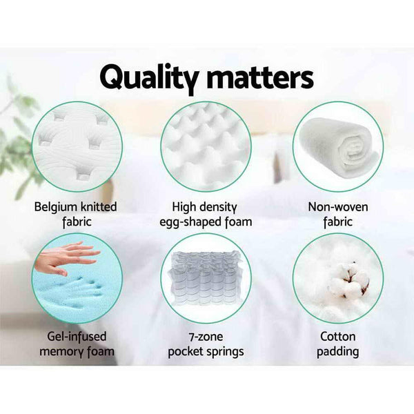 quality that matters in a cool gel king mattress