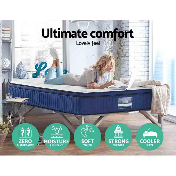 NEW GISELLE QUEEN EURO TOP COOL GEL MEMORY FOAM 34CM - Evopia