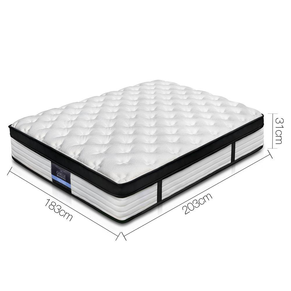 Giselle Euro Top King Mattress Extra Supportive - Evopia