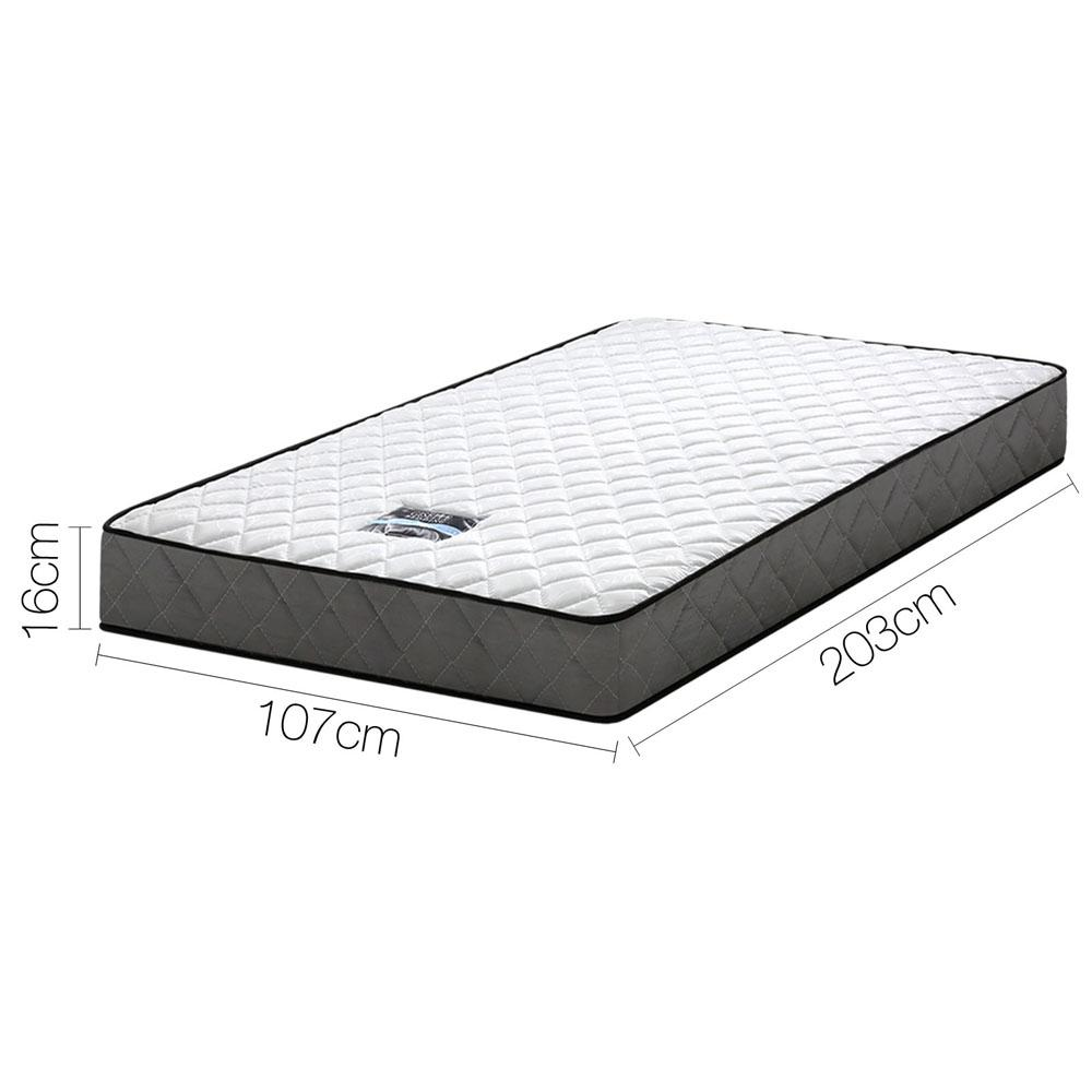 BONNELL TIGHT TOP SPRING MATTRESS - KING SINGLE - Evopia