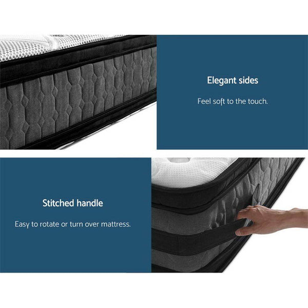 GISELLE LUXURY HOTEL 36CM EURO TOP MATTRESS- SINGLE - Evopia