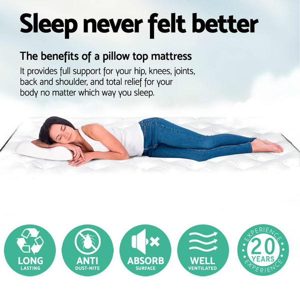 explaining the benefits of a pillow top mattress
