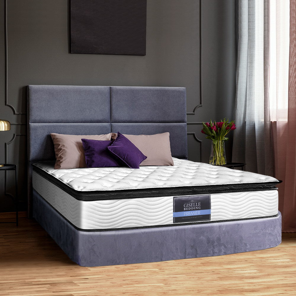 Premier Range Pillow Top Pocket Spring Mattress Queen - Evopia