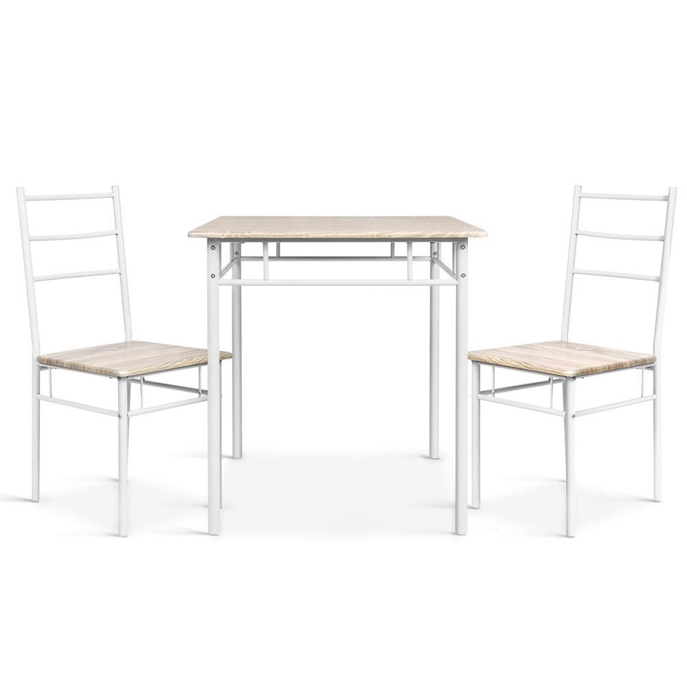 Artiss 3 Piece Dining Set - Natural - Evopia