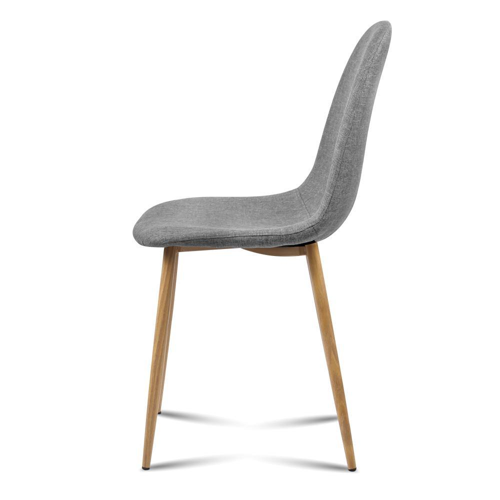 Artiss 4x Adamas Fabric Dining Chairs - Light Grey