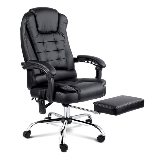 8 Point Reclining Message Chair - Black - Evopia