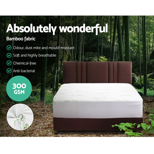 Giselle Bedding Giselle Bedding Bamboo Mattress Protector Double - Evopia