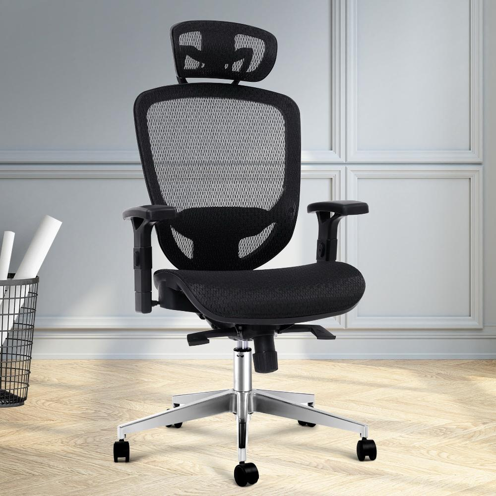 Artiss Ergonomic Office Chair in Black Mesh - Evopia