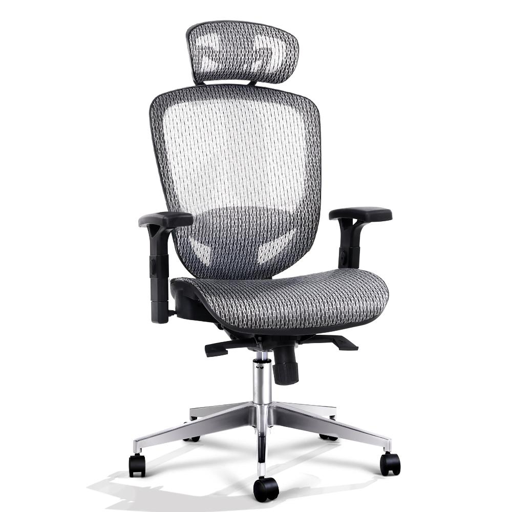 Artiss Ergonomic Office Chair in Grey Mesh - Evopia