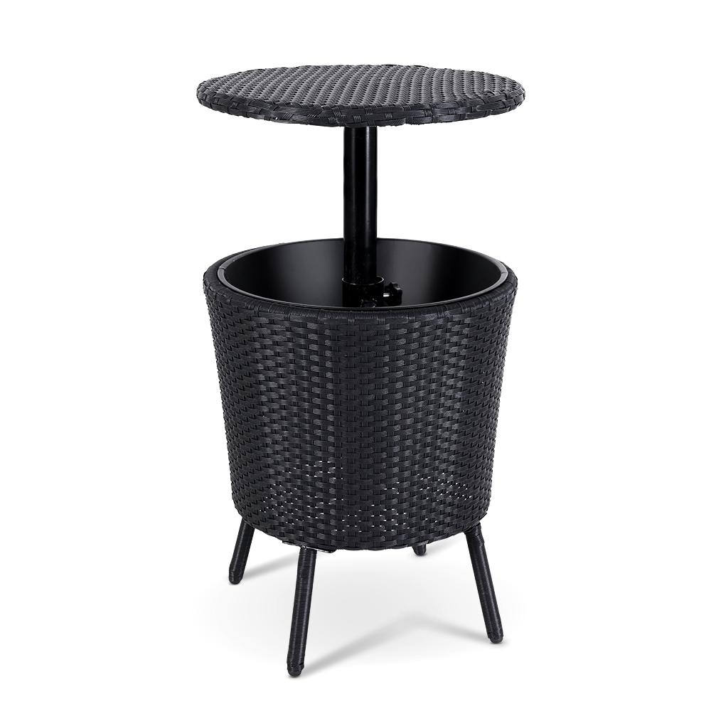 Bar Table Outdoor Setting Cooler Ice Bucket Storage Box Coffee Side Tables Party Pool Patio - Evopia