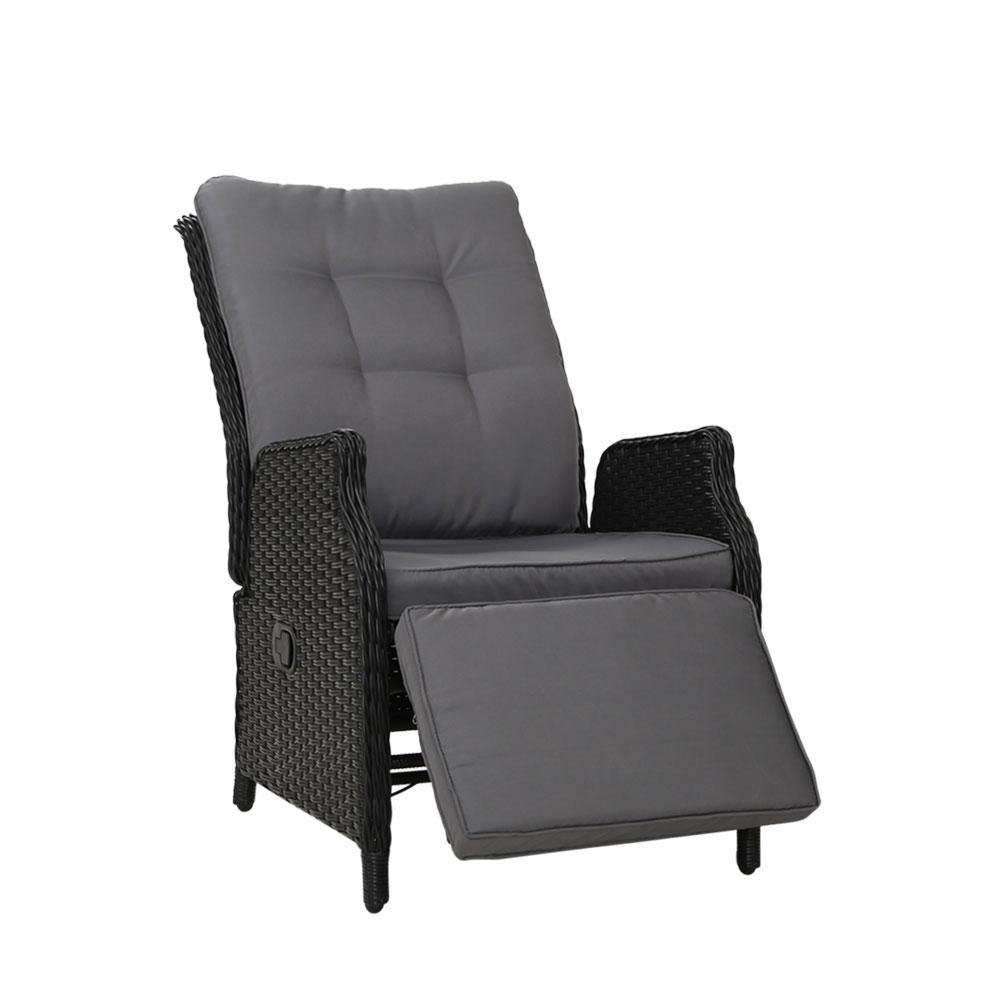 Gardeon Recliner Chair Sun lounge Setting Outdoor Furniture Patio Wicker Sofa
