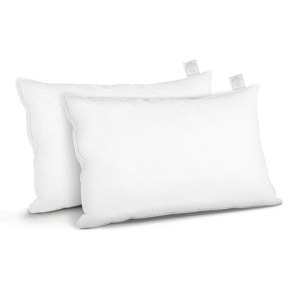Giselle Bedding Goose Feather Down Twin Pack Pillow - Evopia