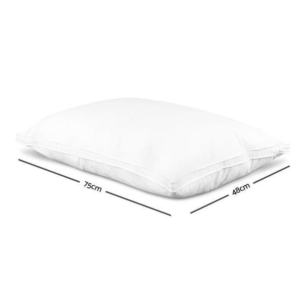 Giselle Bedding Goose Feather Down Twin Pack Pillow