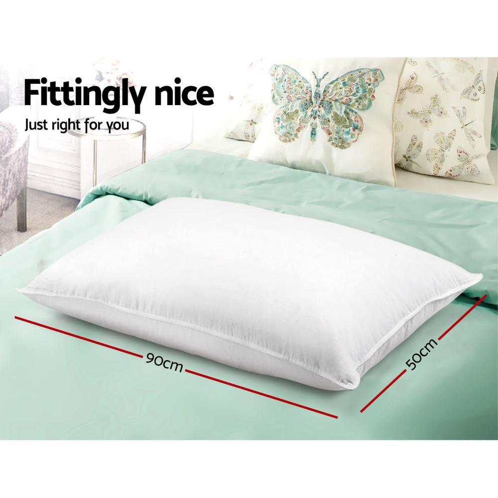King Size Pillows with 2 medium and 2 firm Microfibre Pillows - Evopia