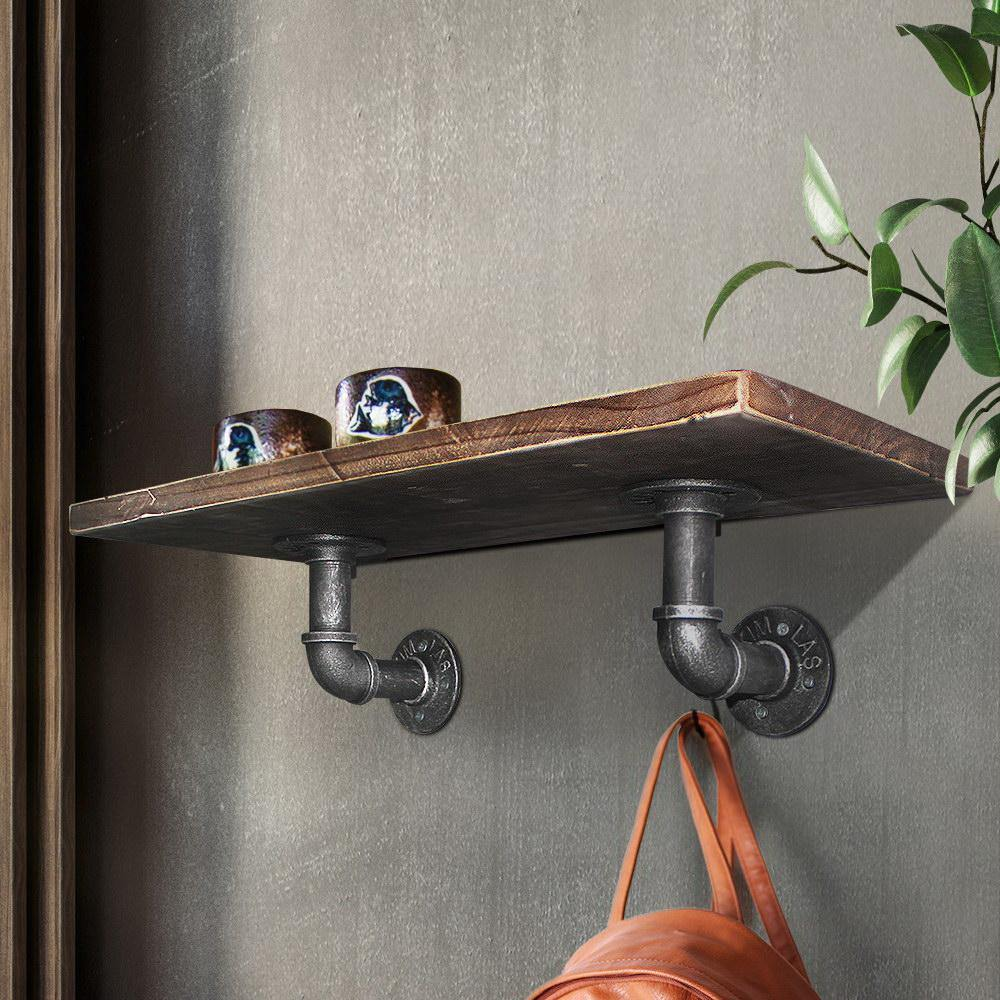 "6"" Pipe Shelf Bracket Set - Evopia"