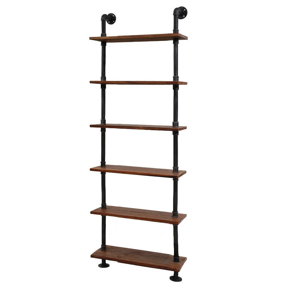 Artiss Rustic Wall Shelves Display Bookshelf Industrial DIY Pipe Shelf Brackets - Evopia