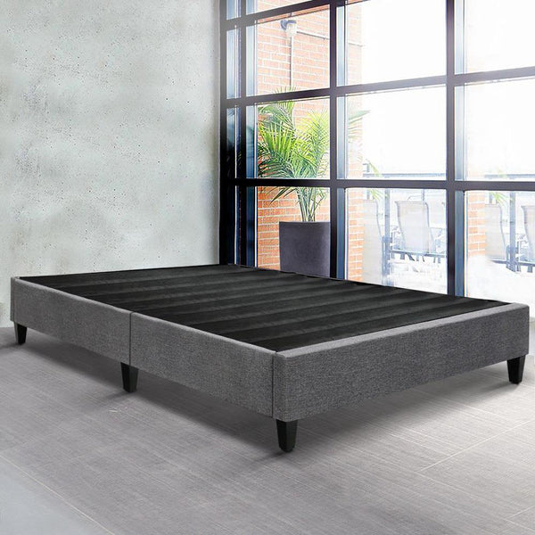 Brisk Bed Base Frame in Grey Fabric - Evopia