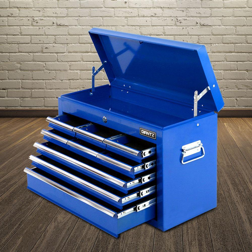 Giantz 9 Drawer Mechanic Tool Box Storage Blue