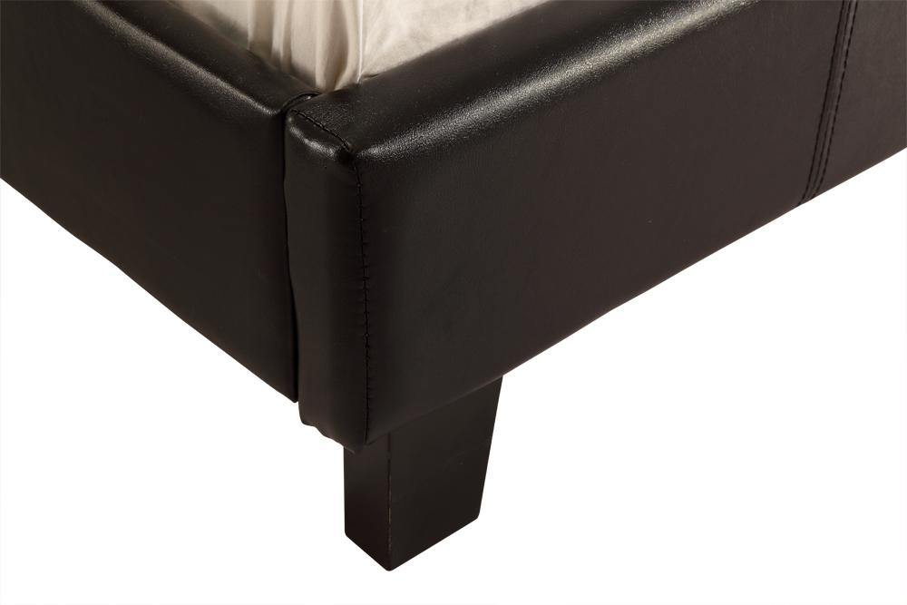 Palermo PU Leather Bed Frame Black Single - Evopia