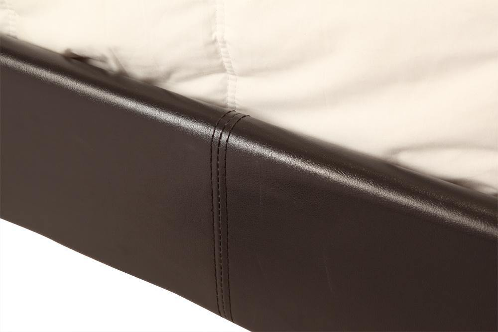 Palermo Brown Leather Bedframe Double
