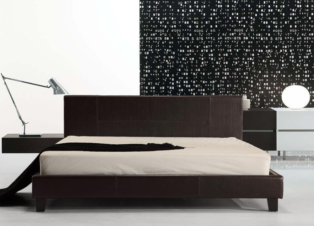 Palermo Brown Leather Bed King - Evopia