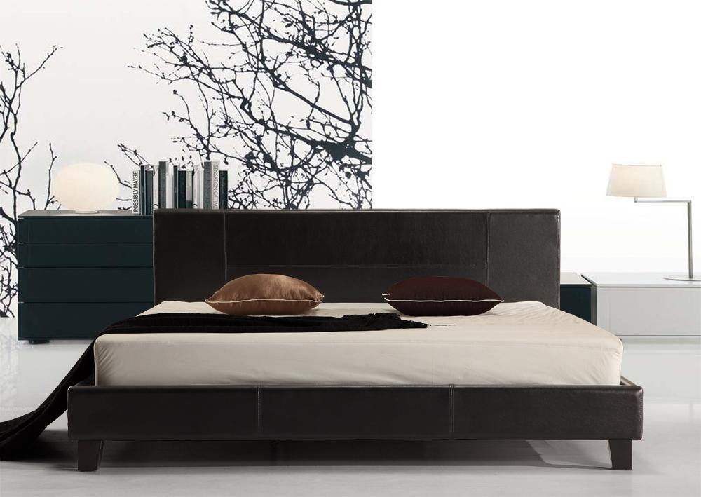 Palermo Black PU Leather Bed Frame King