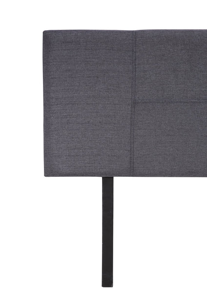 Linen Fabric Queen Bed Headboard Bedhead - Grey - Evopia
