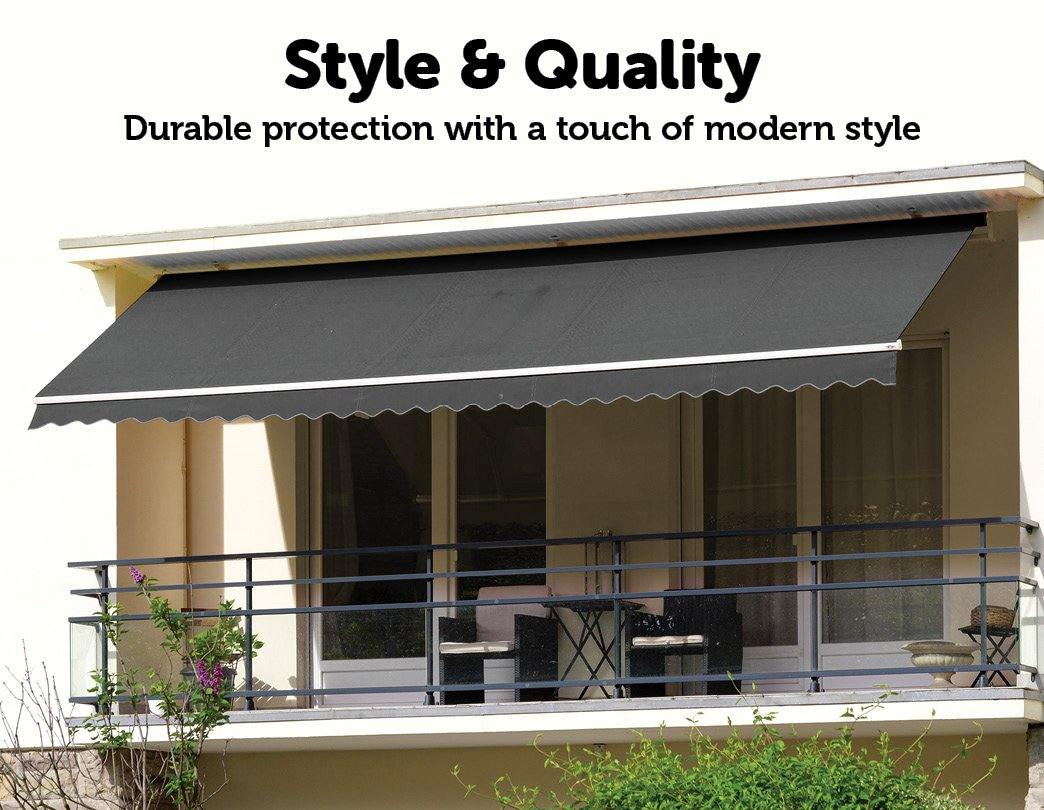 Outdoor Folding Arm Awning Retractable Grey