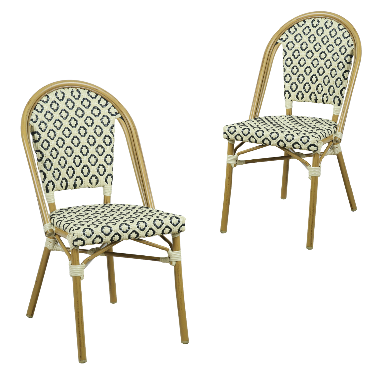 Lana Brown Outdoor Dining Chair Set - Evopia