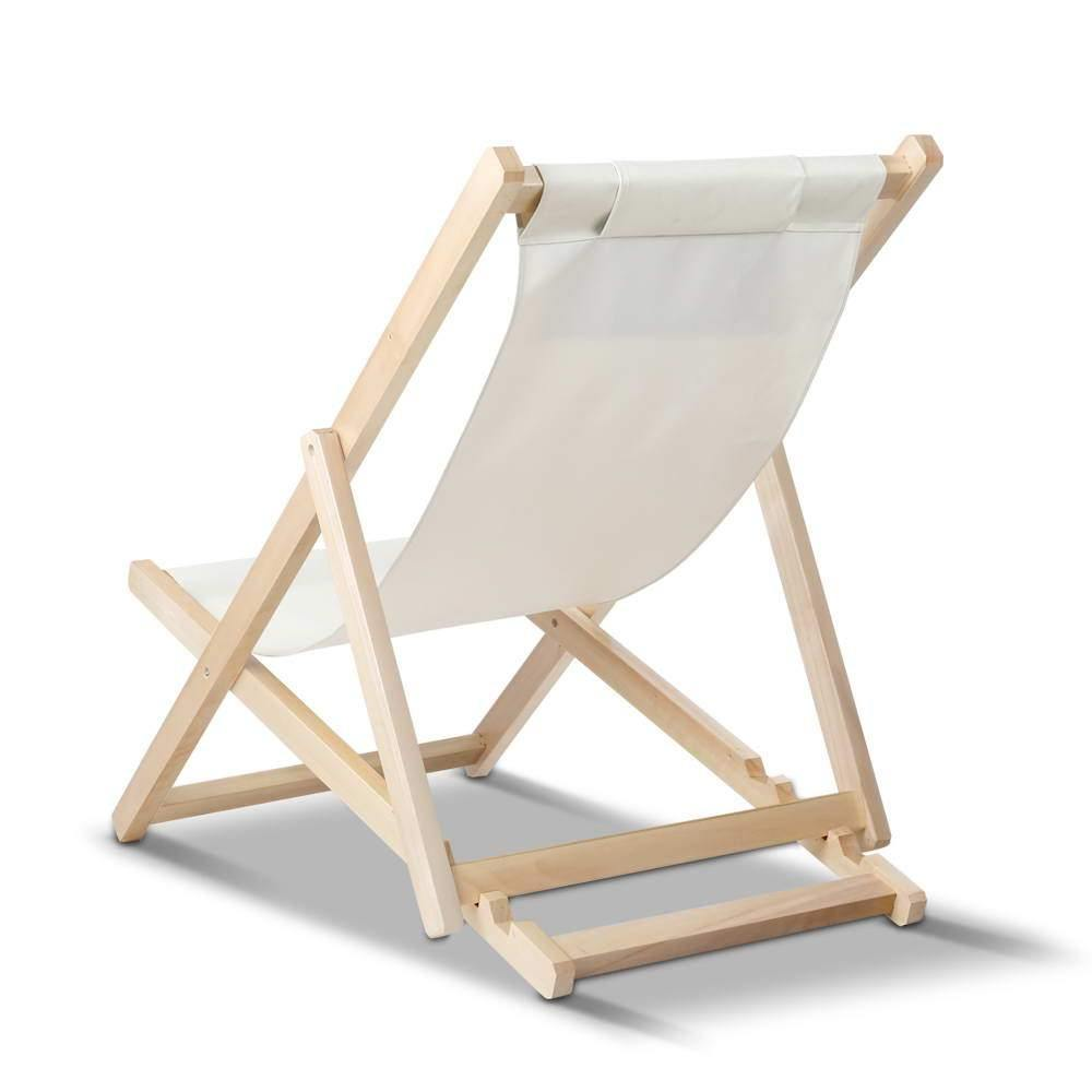 Gardeon Outdoor Furniture Sun Lounge Chairs Deck Chair Folding Wooden Patio Beach