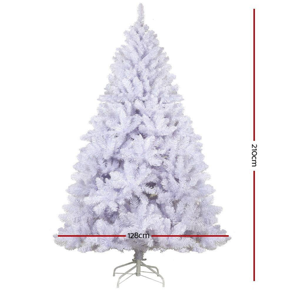 Jingle Jolly's White Christmas Tree 2.1M 7FT