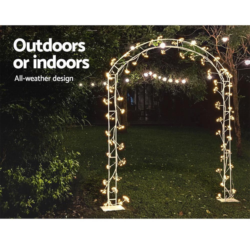 Jingle Jollys Christmas Motif Lights LED Metal Archway Waterproof Outdoor Xmas