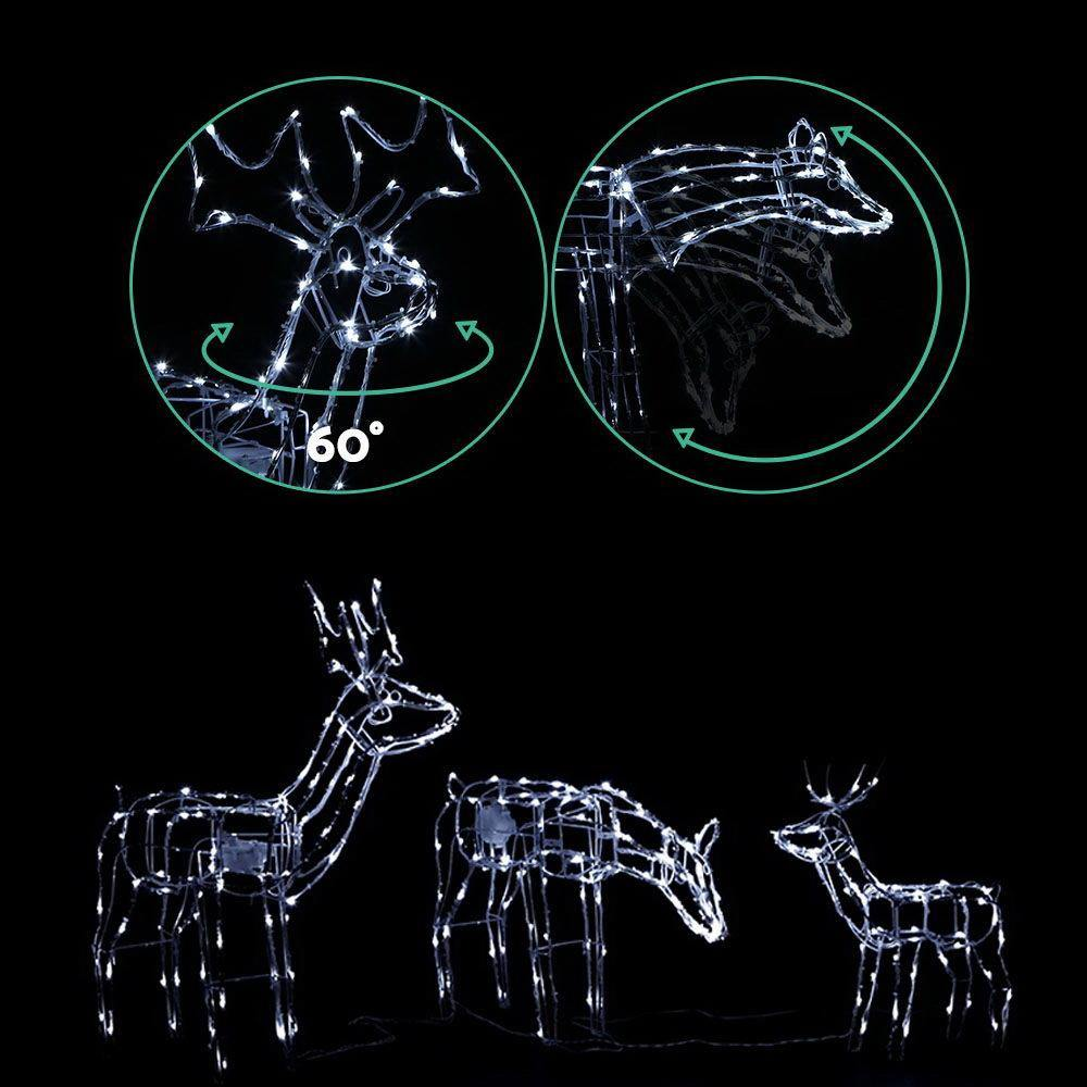 Jingle Jollys Christmas Motif Lights LED Rope Reindeer Waterproof Outdoor - Evopia