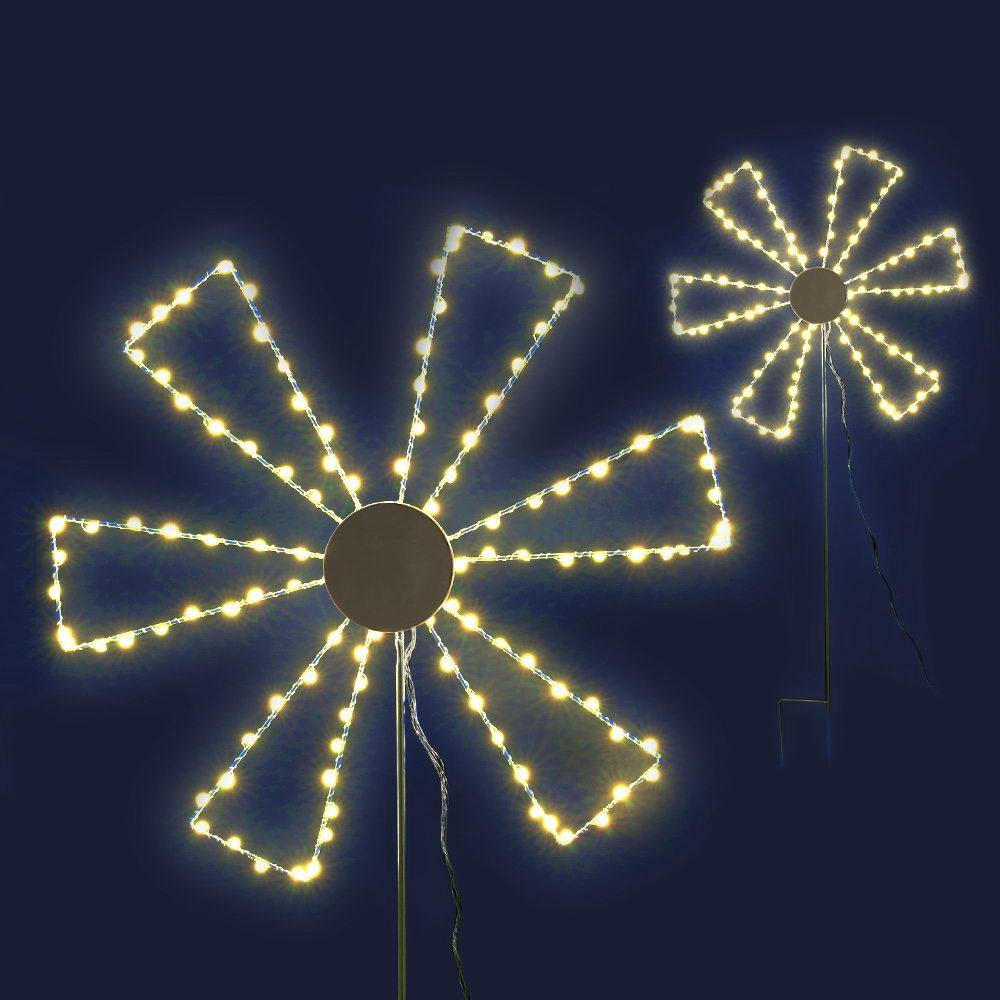 Jingle Jollys Christmas Motif Lights LED Spinner Windmill Waterproof Outdoor
