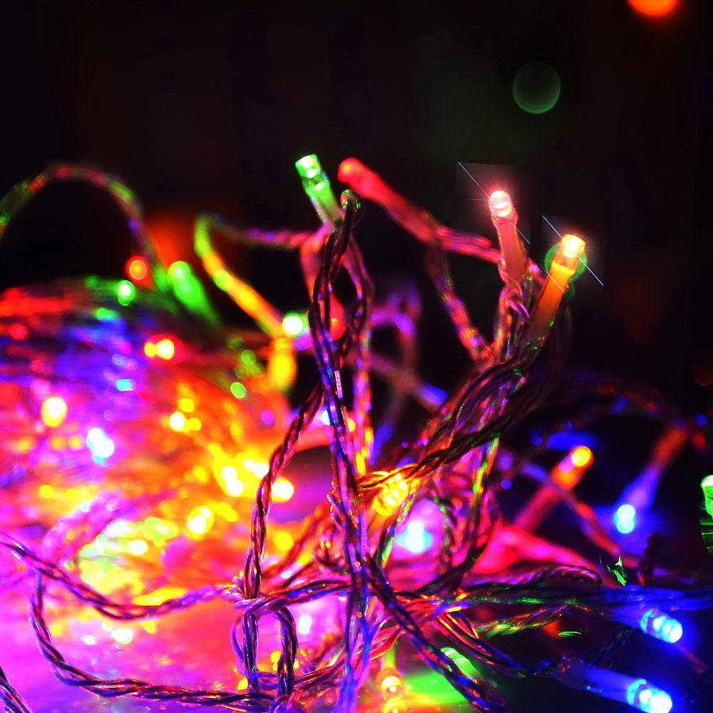 Jingle Jollys 50M Christmas String Lights 500LED Multi Colour