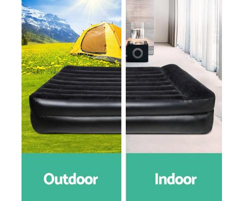 Bestway Queen Air Mattress Black - Evopia