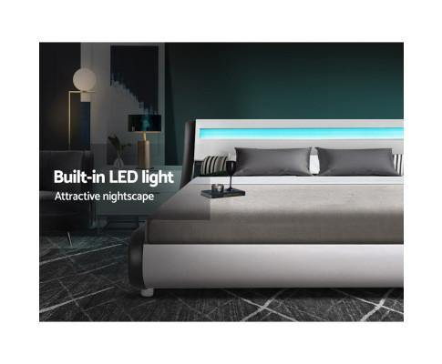 alex bedframe with led lighting, double bedframe with led lighting