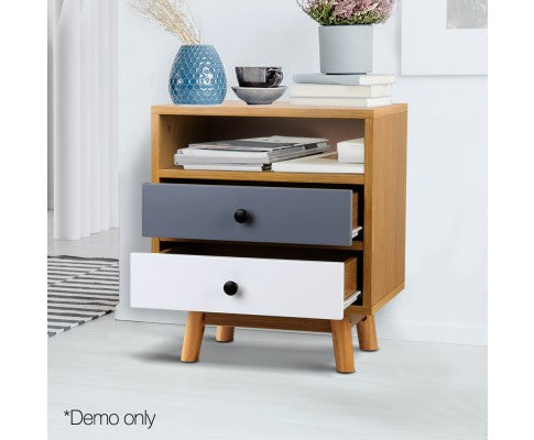 Retro Wooden Bedside Table $ 109 on Evopia, free delivery