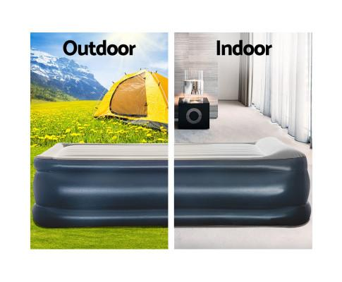 Bestway Queen Air Bed Inflatable Mattress Sleeping Mat Battery Built-in Pump - Evopia