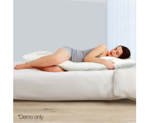 GISELLE LUXE' FULL LENGTH BAMBOO MEMORY FOAM PILLOW - Evopia