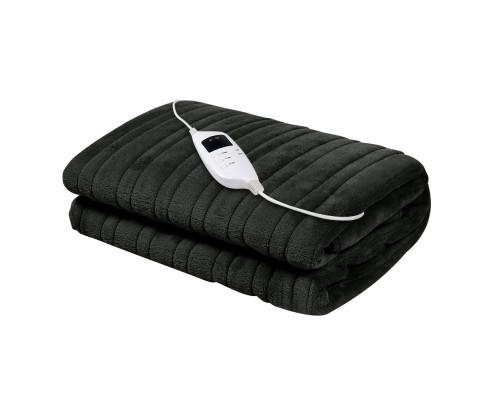 Giselle Bedding Charcoal Electric Throw Blanket | Evopia.com.au