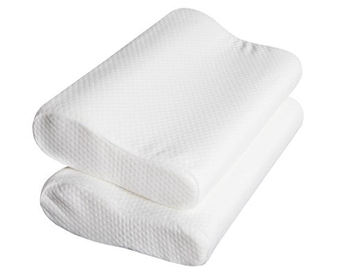 Set of 2 Visco Elastic Memory Foam Contour Pillows - Evopia