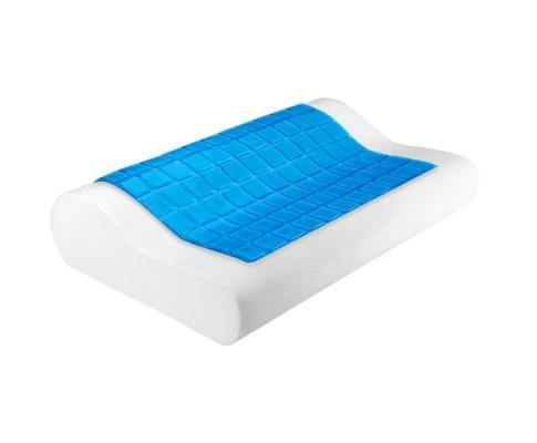 Set of 2 Cool Gel Top Memory Foam Pillow - Evopia