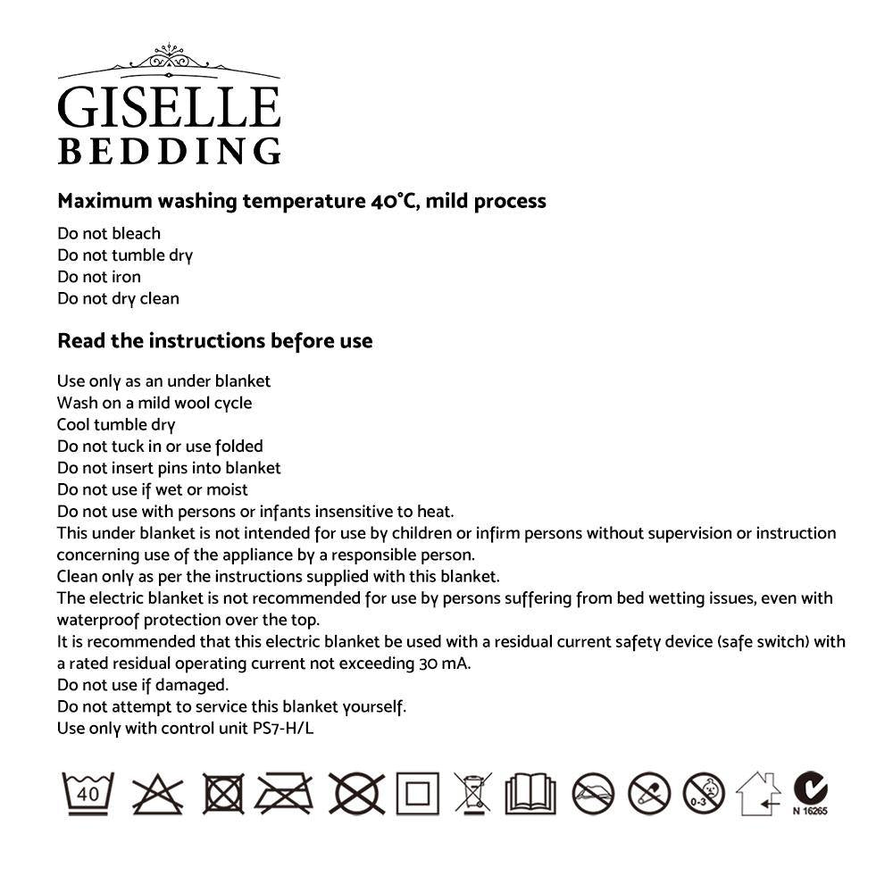 GISELLE ELECTRIC BLANKET 9 HEAT SETTING - Evopia