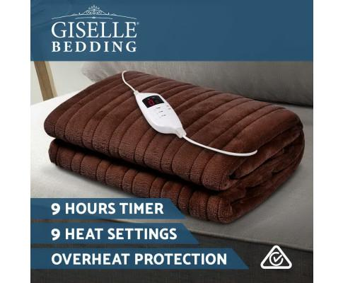 Giselle Bedding Brown Electric Throw Blanket - Evopia
