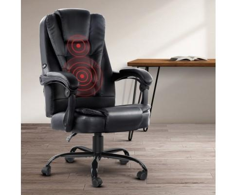 Artiss Msassage Home office Gaming Chair Black