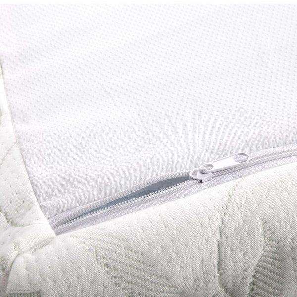 removable and washable cover on a memory foam mattress topper